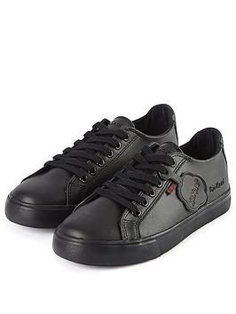 Kickers Kickers Tovni Leather Lace Plimsoll - Black Picture