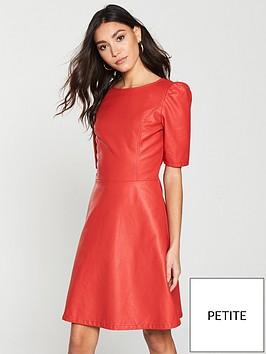 v-by-very-petite-punbspa-line-dress-red