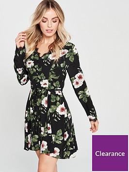 v-by-very-petite-lace-trim-printed-tea-dress