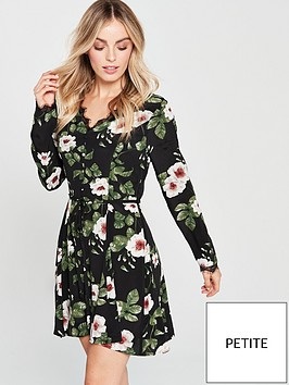v-by-very-petite-lace-trim-printed-tea-dress