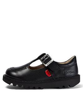 Kickers Kickers Kids Kick T Leather Shoes - Black Picture