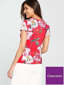 fea381a088e66 ... Ted Baker Daleyza Iguazu Fitted Tee - Red. View larger