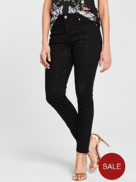 ted-baker-dahlene-embroidered-star-skinny-jean-black