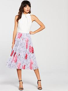 ted-baker-nbspcornalanbsppleated-dress--floral-print
