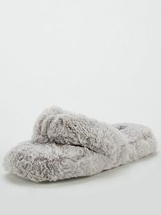 v-by-very-wella-toe-post-slipper-grey