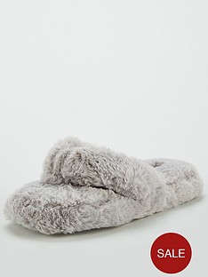 v-by-very-wella-toe-post-slipper-grey