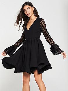 michelle-keegan-lace-sleeve-prom-dress