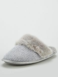 v-by-very-waiva-knitted-mule-slipper-grey