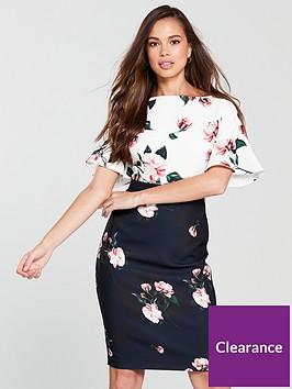 phase-eight-heather-floral-dress-ivorynavynbsp