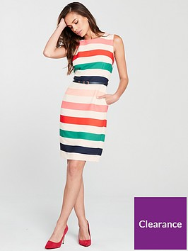 phase-eight-faye-striped-dress-printednbsp
