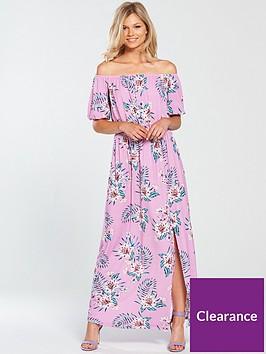 v-by-very-petite-bardot-jersey-maxi-dress-print