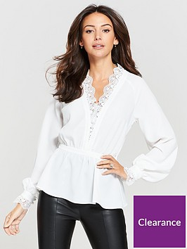 michelle-keegan-lace-trim-blouse-ivory