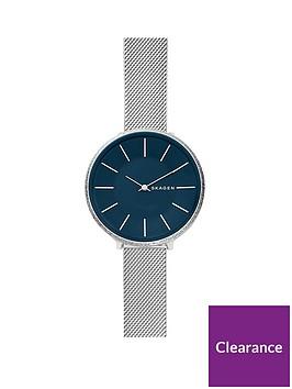 skagen-skagen-karolina-stainless-steel-and-mesh-with-blue-dial-ladies-watch