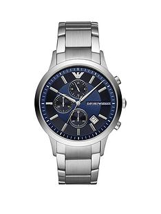 emporio-armani-blue-dial-stainless-steel-dress-bracelet-mens-watch