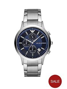 emporio-armani-blue-dial-stainless-steel-dress-bracelet-mens-watch