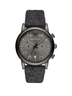 emporio-armani-gunmetal-stainless-steel-fashion-mens-fabric-strap-watch