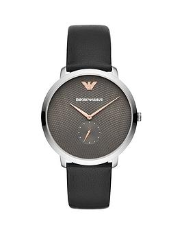 Emporio Armani Emporio Armani Emporio Armani Stainless Steel Dress Leather  ... Picture