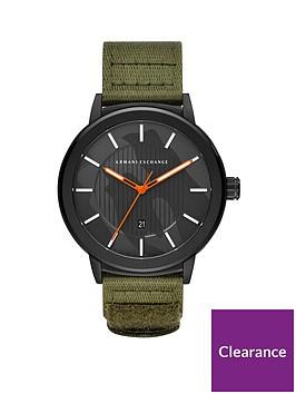 armani-exchange-armani-exchange-black-stainless-steel-and-green-nylon-strap-mens-watch