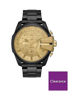 diesel-diesel-mega-chief-black-ip-stainless-steel-watch-with-gold-dial-mens-watch