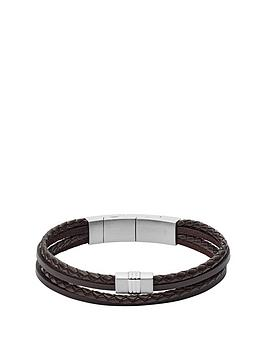 fossil-fossil-brown-leather-casual-texture-multi-strand-mens-bracelet