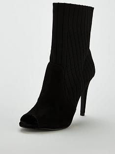v-by-very-flick-peep-toe-high-heel-knitted-sock-boot-blacknbsp
