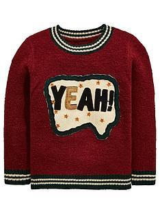 mini-v-by-very-boys-yeah-slogan-sequin-knitted-jumper-burgundynbsp