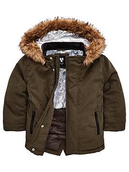 mini-v-by-very-boys-borg-trim-parka-coat-khaki
