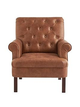 Very Kit Faux Leather Accent Chair Picture
