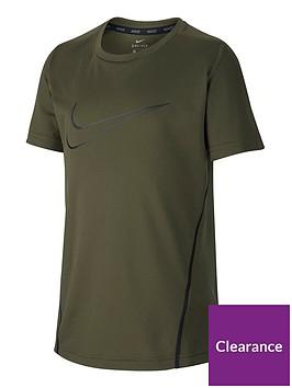 nike-older-boys-short-sleeve-dry-top-olivenbsp