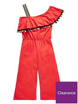 v-by-very-girls-pom-pom-frill-jumpsuit-red