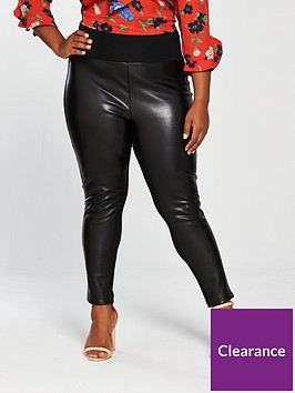 46dc8b7c17 V by Very Curve PU and Ponte Legging - Black | littlewoods.com