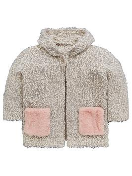 mini-v-by-very-girls-faux-fur-pocket-cosy-knit-pom-pom-cardigan
