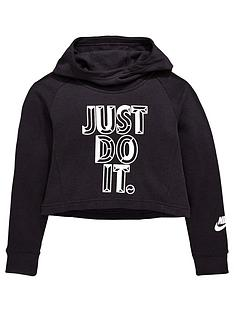 nike-older-girlsnbspjdinbsphoodie-crop-blacknbsp