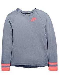 nike-sportswear-older-girlsnbsplong-sleeve-top-slatenbsp