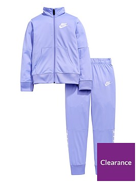 11a7140cde5d29 Nike Sportswear Older Girls Tricot Tracksuit - Purple