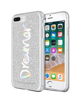 rebecca-minkoff-be-more-transparent-case-for-iphone-8-plus-amp-iphone-7-plus-dreamer-silver-glitterholographic-foil