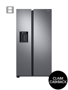 samsung-rs68n8240s9eu-american-style-frost-free-fridge-freezer-with-plumbed-water-ice-dispenser-andnbsp5-year-samsung-parts-and-labour-warranty--nbspmatt-silvernbsp