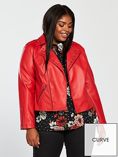 v-by-very-curve-studded-pu-biker-jacket-red