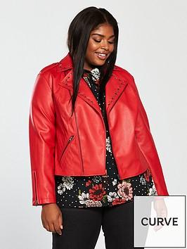 v-by-very-curve-studded-pu-biker-jacket-red