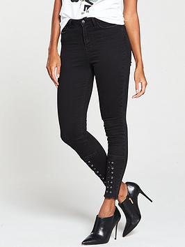 v-by-very-front-lace-up-hem-ella-jean-black