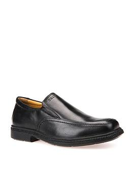 Geox Geox Federico Leather Boys Slip On Shoes - Black Picture