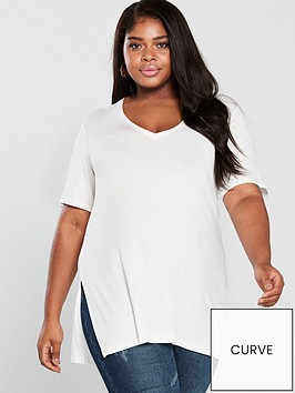 v-by-very-curve-v-neck-longline-t-shirt