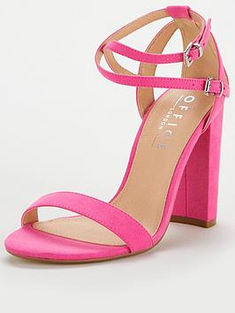 office-habana-strappy-heeled-sandal-pink