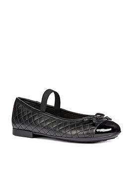 Geox Geox PliÉ Quilted Ballerina School Shoes - Black Picture