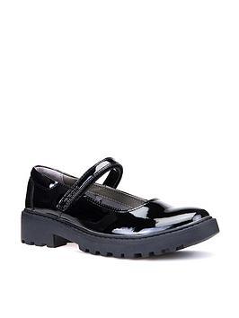 geox geox casey girls patent mary jane school shoe