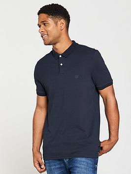 v-by-very-mens-short-sleeve-pique-polo-navy