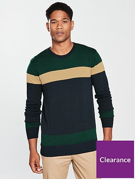 v-by-very-mens-colour-block-crew-knit-jumper-navygreen