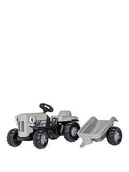 rolly-toys-rolly-kid-little-grey-fergie-tractor-amp-trailer
