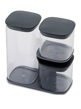 Joseph Joseph Joseph Joseph Podium 3-Piece Storage Jar Set With Stand Picture