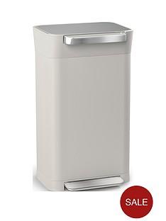 joseph-joseph-titan-30-litre-trash-compactor-binnbspndash-stone
